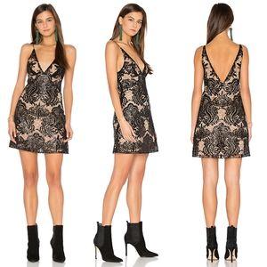 FREE PEOPLE - night shimmer mini dress